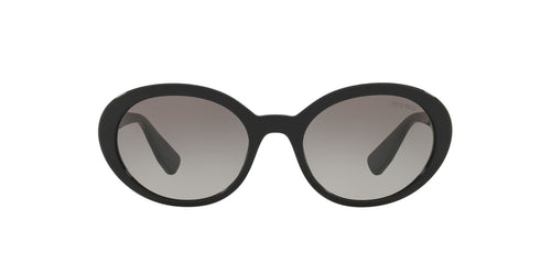 Miu Miu - MU 01US Black Oval Women Sunglasses - 53mm