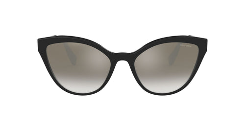 Miu Miu - MU03US Black/Grey Mirror Cat Eye Women Sunglasses - 55mm