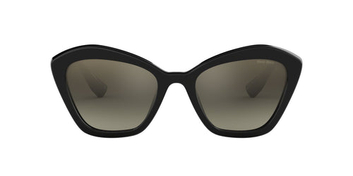 Miu Miu - MU05US Black/Grey mirror Irregular Women Sunglasses - 55mm