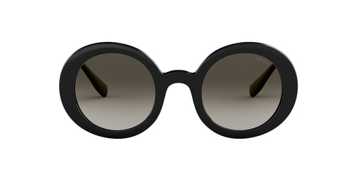 Miu Miu - MU06US Black/Grey Gradient Round Women Sunglasses - 48mm