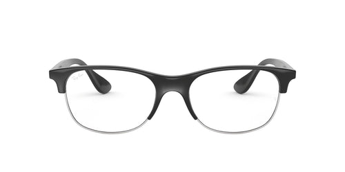 Ray Ban Rx - RX4319V Black Square Unisex Eyeglasses - 55mm