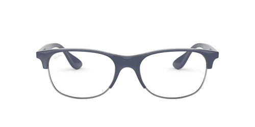Ray Ban Rx - RX4319V Top Blue On Trasparent Blue Square Unisex Eyeglasses - 55mm