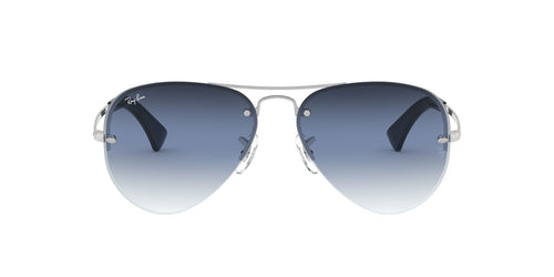 Ray Ban - RB3449 Silver Aviator Men Sunglasses - 59mm