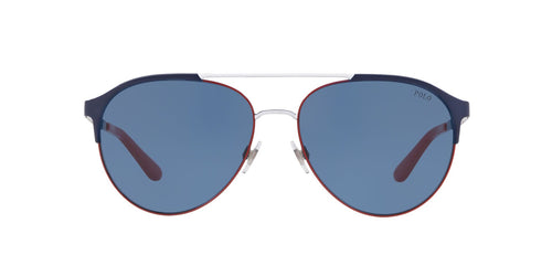 Ralph- Polo - PH3123 Navy Blue/Red/White Aviator Men Sunglasses - 60mm