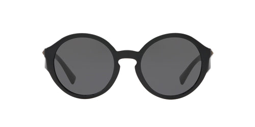 Valentino - VA4047 Black/Smoke Round Women Sunglasses - 52mm