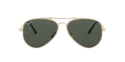 Ray Ban - RB8125M Titanium Gold Pilot Unisex Sunglasses - 58mm