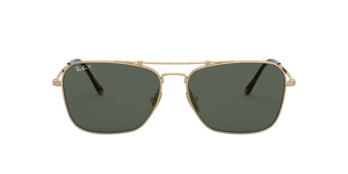 Ray Ban - RB8136M Titanium Gold Square Unisex Sunglasses - 58mm