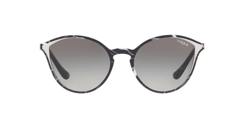 Vogue - VO5255S Top Black/Texture White Phantos Women Sunglasses - 55mm