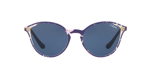 Vogue - VO5255S Top Blue/Text Pink Yellow Tr Phantos Women Sunglasses - 55mm