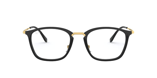 Ray Ban Rx - RX7164 Black Square Unisex Eyeglasses - 50mm