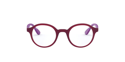 Ray Ban Jr - RY1561 Matte Transparent Fuxia Phantos Unisex Eyeglasses - 41mm