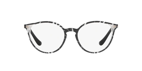 Vogue - VO5254 Top Black/Text White Transp Phantos Women Eyeglasses - 50mm