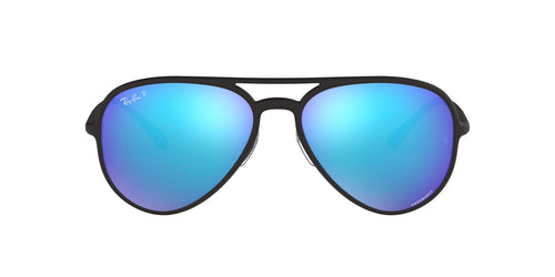 Ray Ban - RB4320CH Black/Blue Mirror Polarized Aviator Unisex Sunglasses - 58mm