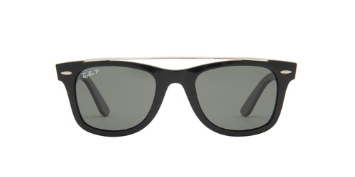 Ray Ban - Wayfarer Black/Green Polarized Unisex Sunglasses - 50mm
