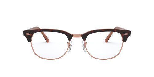 Ray Ban Rx - RX5154 Top Havana On Brown Square Unisex Eyeglasses - 51mm