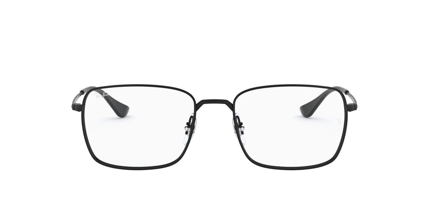 Ray Ban Rx - RX6437 Black Rectangle Unisex Eyeglasses - 53mm