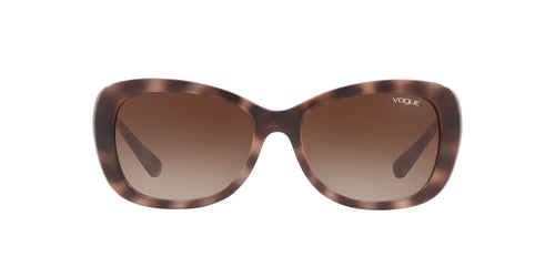 Vogue - VO2943SB Light Havana Pink Butterfly Women Sunglasses - 55mm