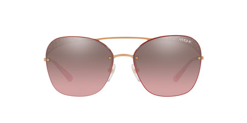 Vogue - VO4104S Rose Gold Square Women Sunglasses - 57mm