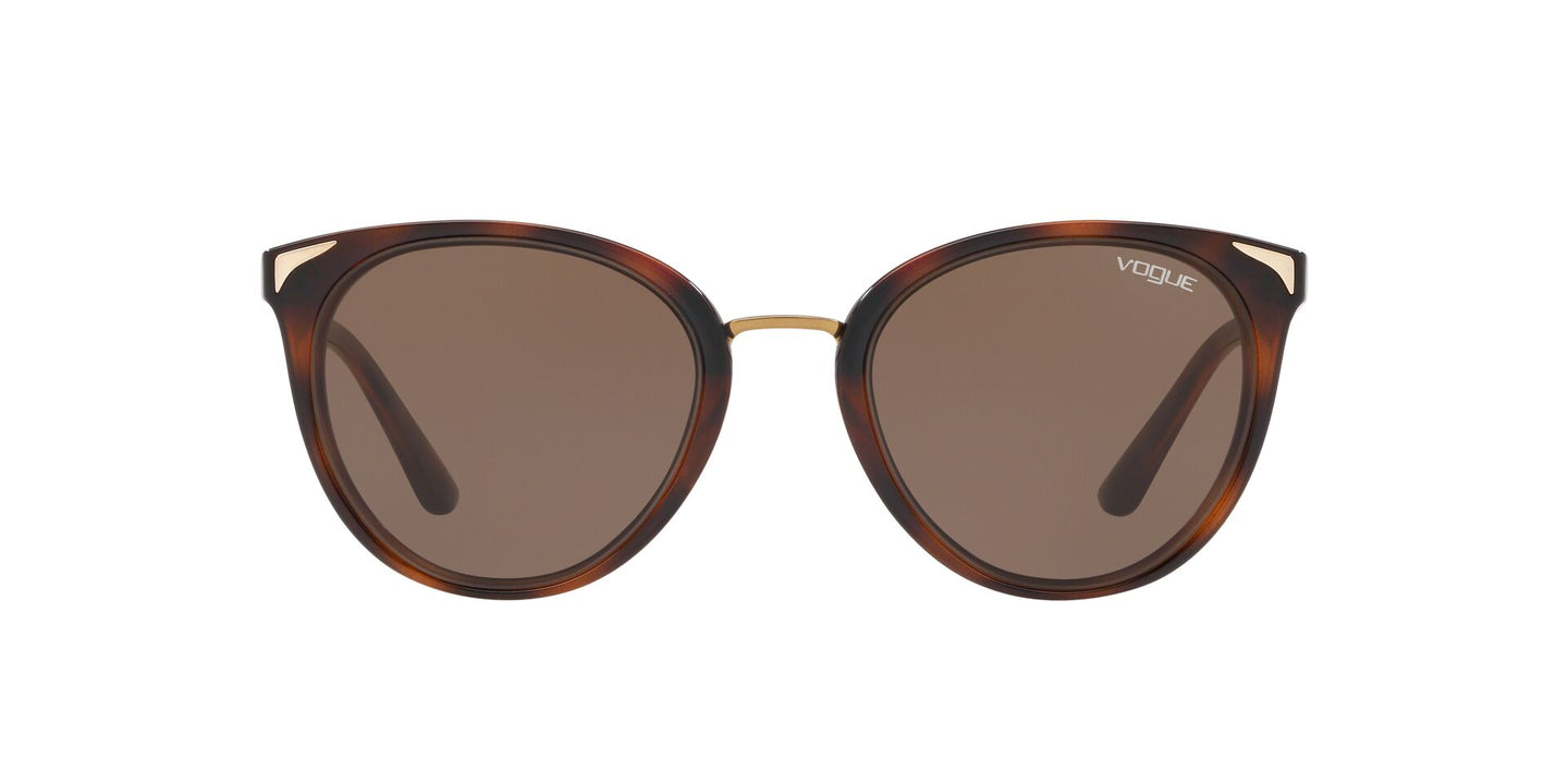 Vogue - VO5230S Top Havana/Light Brown Transp Butterfly Women Sunglasses - 54mm