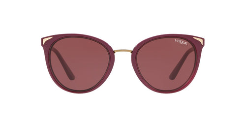 Vogue - VO5230S Top Dark Red/Red Transp Butterfly Women Sunglasses - 54mm