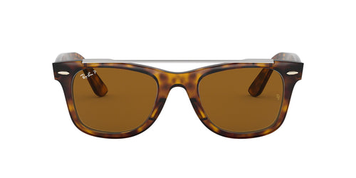 Ray Ban - RB4540 Havana Square Unisex Sunglasses - 50mm