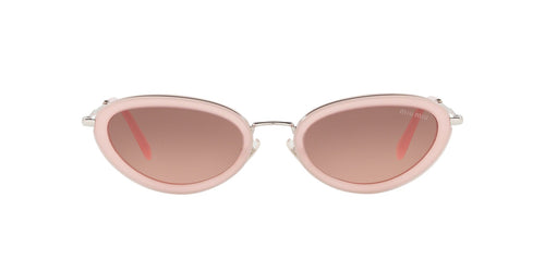Miu Miu - MU 58US Opal Pink Oval Women Sunglasses - 54mm