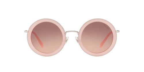 Miu Miu - MU59US Opal Pink/Pink to Dark Brown Gradient Round Women Sunglasses - 48mm