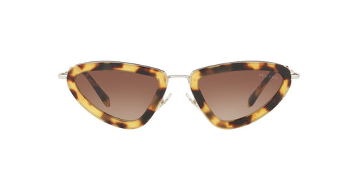 Miu Miu - MU 60US Light Havana Irregular Women Sunglasses - 53mm