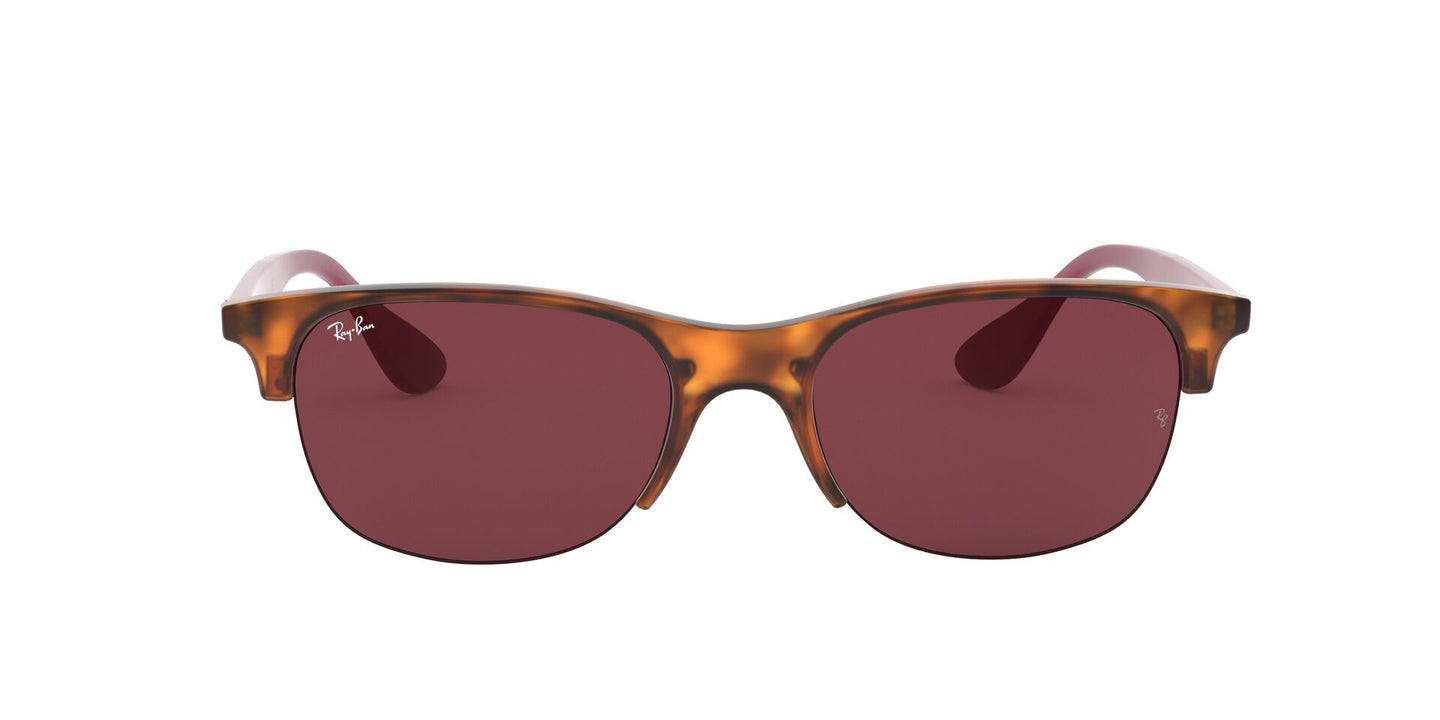 Ray Ban - RB4419 Rubber Red Havana/Dark Violet Square Unisex Sunglasses - 54mm
