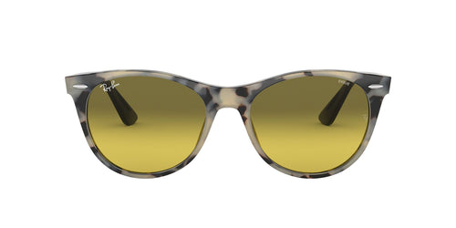 Ray Ban - RB2185 Beige Havana Square Unisex Sunglasses - 55mm