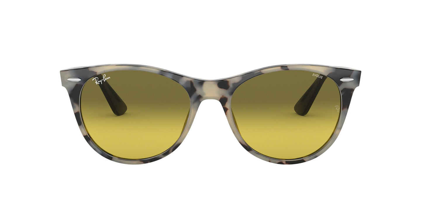 Ray Ban - RB2185 Beige Havana/Photo Yellow Green Gradient Square Unisex Sunglasses - 55mm