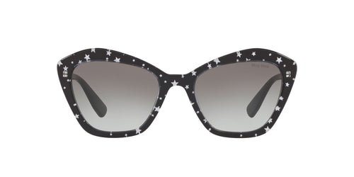 Miu Miu - MU 05US Black/White Stars Irregular Women Sunglasses - 55mm