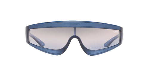 Vogue - VO5257S Trasparent Blue/Pink Grey Blue Gradient Wrap Women Sunglasses - 37mm