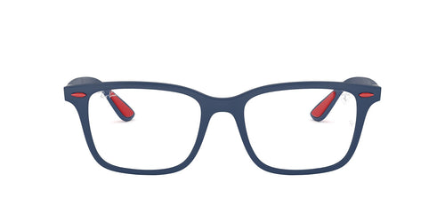 Ray Ban Rx - RX7144M Matte Dark Blue Square Men Eyeglasses - 53mm
