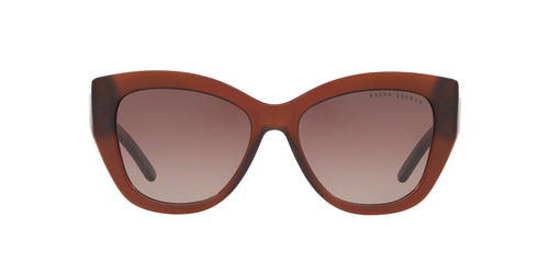 Ralph- Polo - RL8175 Brown Tabacco Trasparent Square Women Sunglasses - 54mm