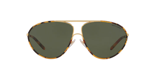 Ralph- Polo - RL7066J Gold/Antique Havana Aviator Women Sunglasses - 62mm