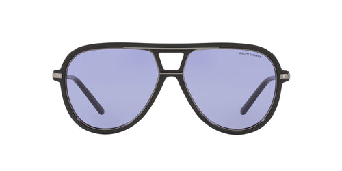 Ralph- Polo - RL8177 Black Aviator Men Sunglasses - 58mm