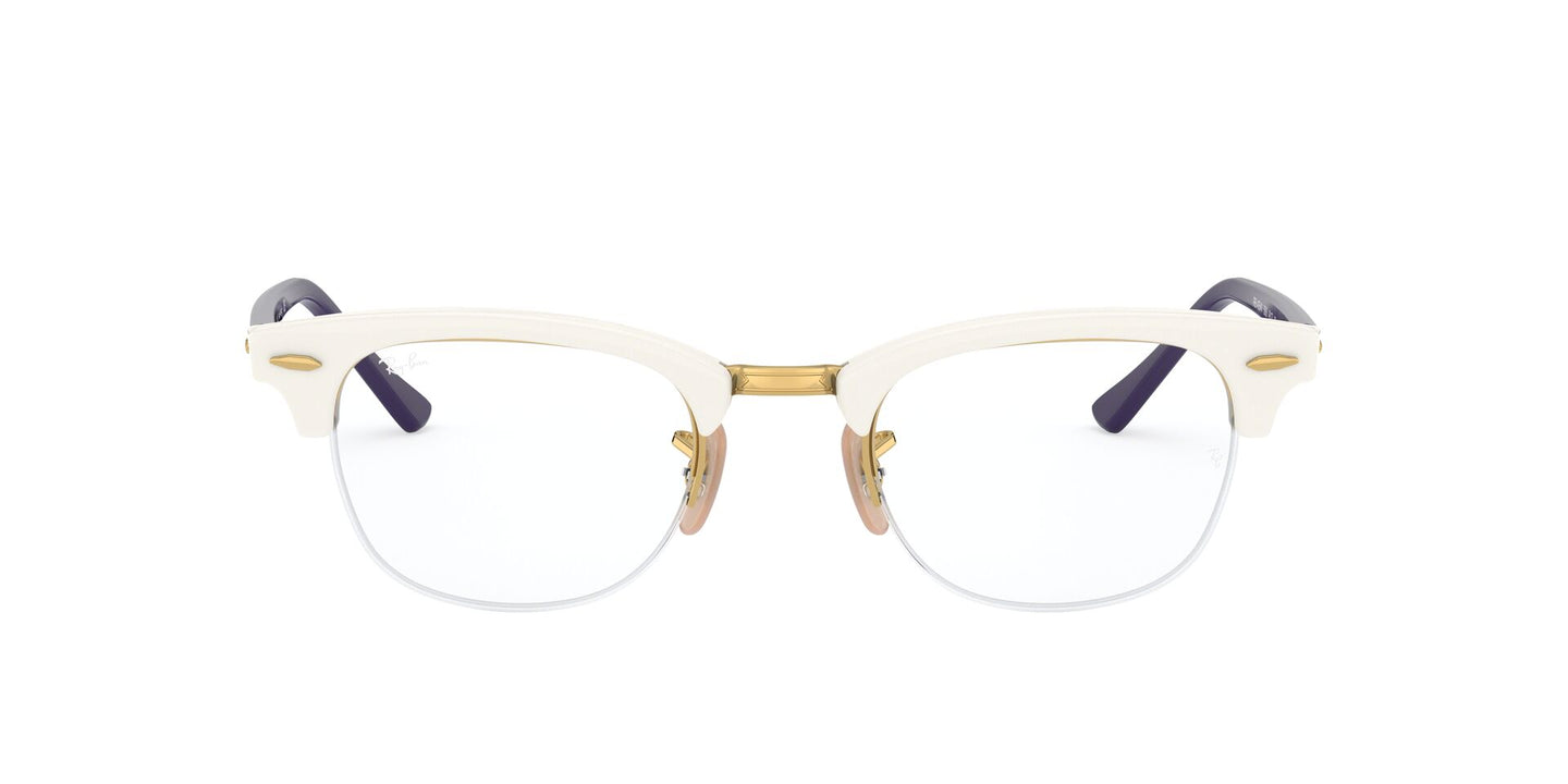 Ray Ban Rx - RX4354V White Phantos Unisex Eyeglasses - 49mm