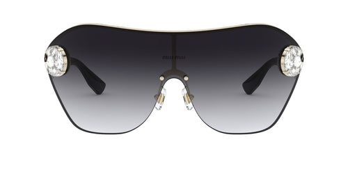 Miu Miu - MU 68US Pale Gold Irregular Women Sunglasses - 58mm