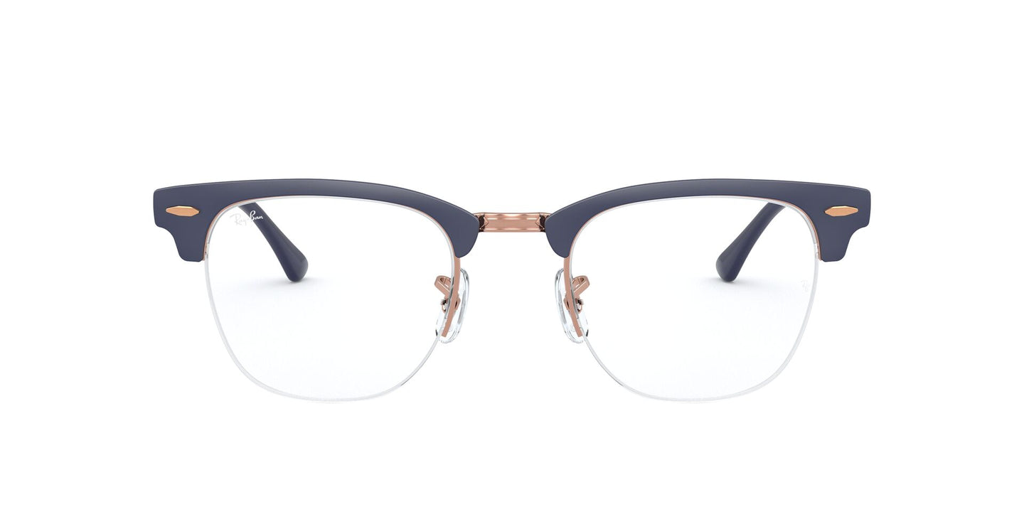 Ray Ban Rx - RX3716VM Copper On Top Matte Dark Blue Square Unisex Eyeglasses - 50mm