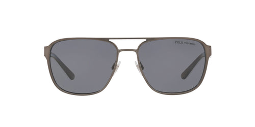 Ralph- Polo - PH3125 Matte Gunmetal Square Men Sunglasses - 57mm
