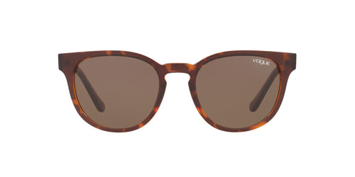 Vogue - VO5271S Top Dark Havana/Light Brown Square Women Sunglasses - 53mm