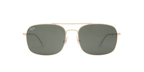 Ray Ban - RB3611 Gold Square Men Sunglasses - 60mm