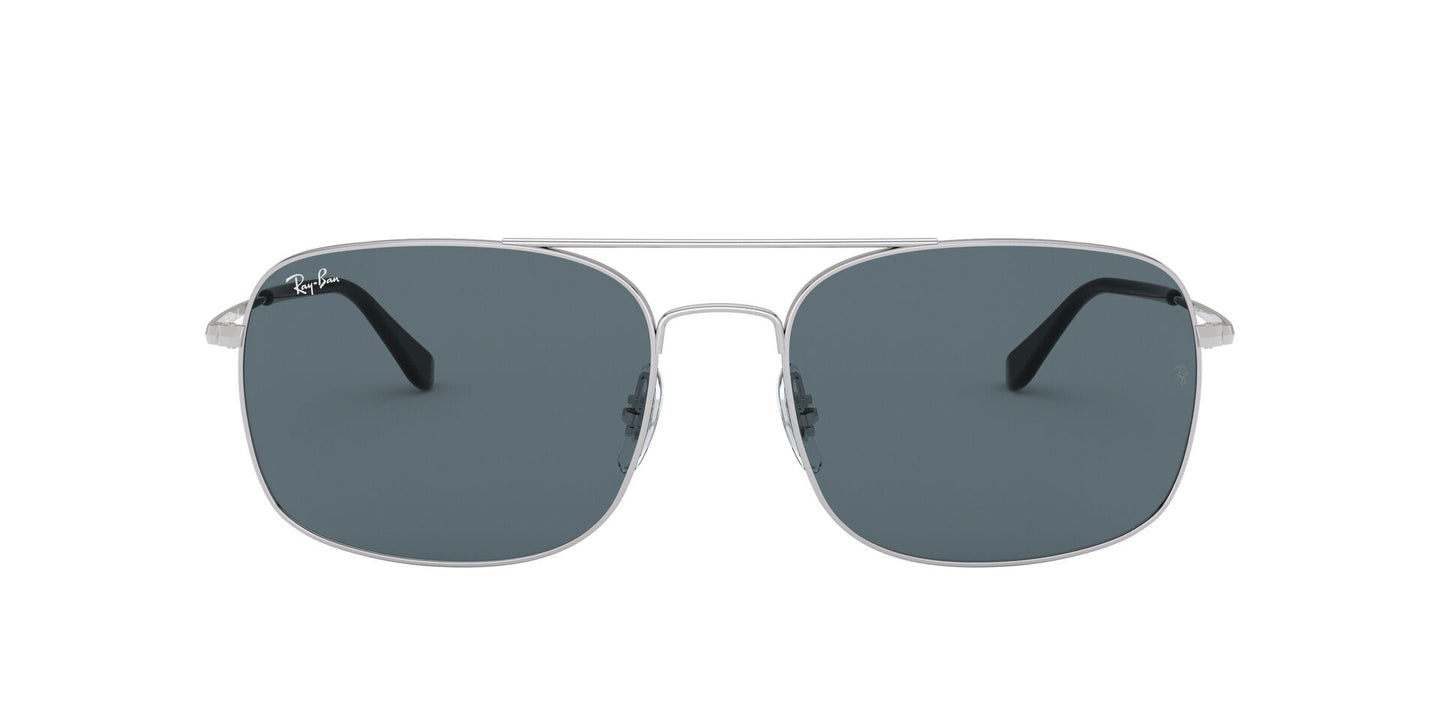 Ray Ban - RB3611 Silver/Blue Aviator Men Sunglasses - 60mm