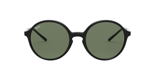 Ray Ban - RB4304 Black/Green Round Women Sunglasses - 53mm
