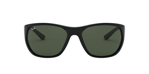 Ray Ban - RB4307 Black/Green Square Men Sunglasses - 61mm