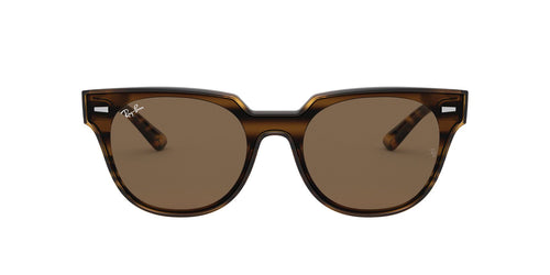 Ray Ban - RB4368N Striped Havana Red Square Unisex Sunglasses - 39mm