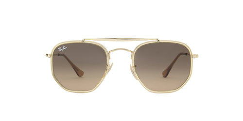 Ray Ban - Marshal II Gold Irregular Unisex Sunglasses - 52mm