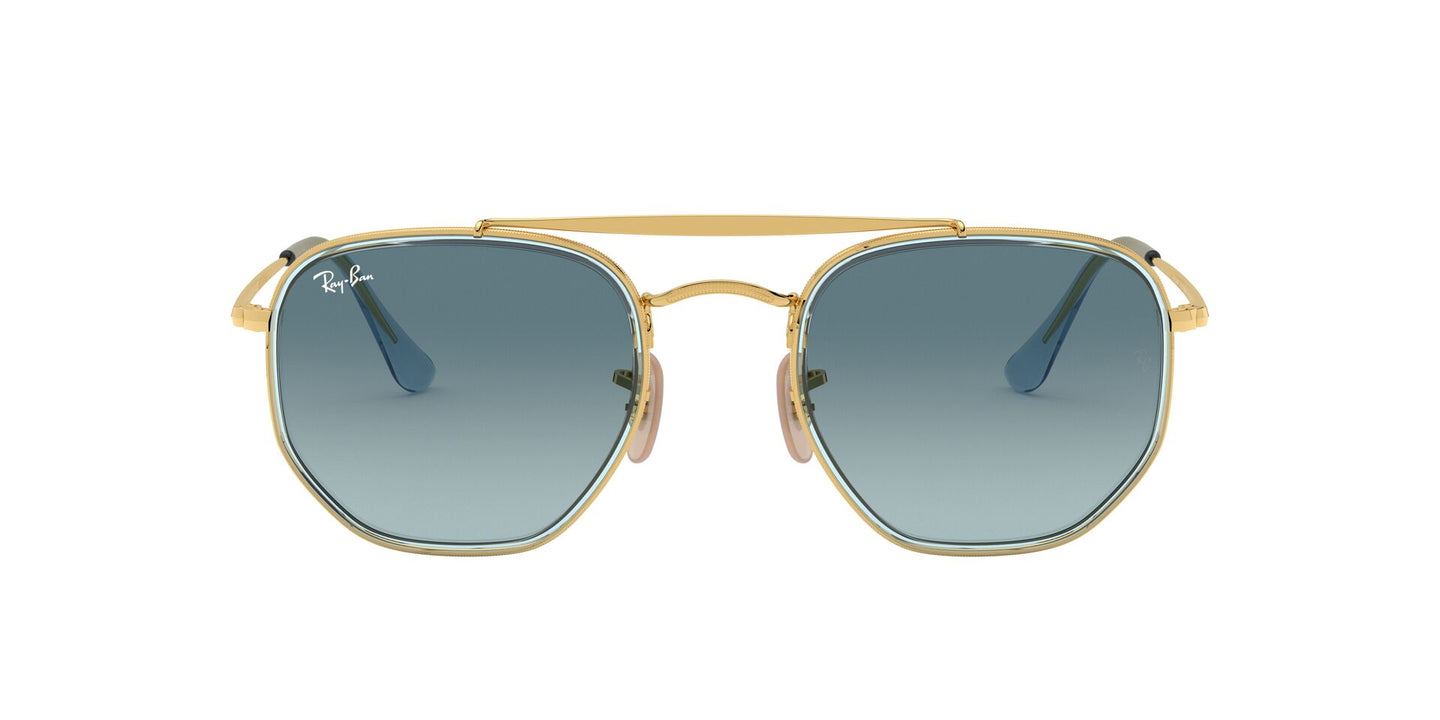 Ray Ban - Marshal II Gold/Blue Gradient Grey Geometric Unisex Sunglasses - 52mm