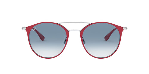 Ray Ban - RB3546 Silver On Top Bordeaux Round Unisex Sunglasses - 49mm